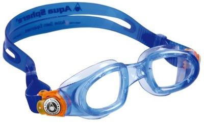 MOBY Okularki Dziecięce Pływackie Na Basen Lekkie