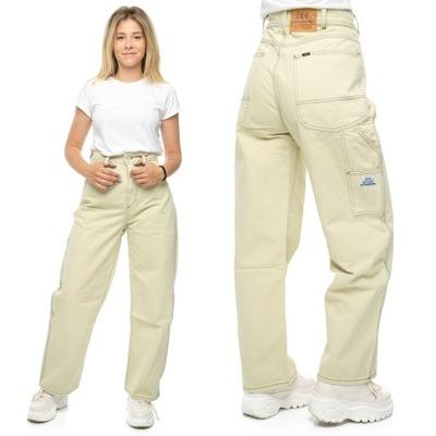 LEE WEEKDAY spodnie damskie luźny kroj W30 L29