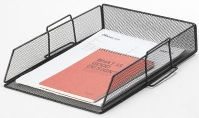 Szufladka na biurko metalowa czarna siatka