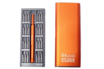 Końcówki wkrętakowe precyzyjne C5368 49szt Richman