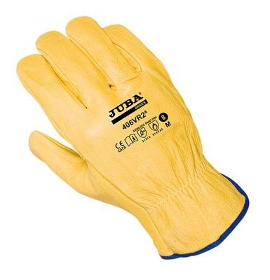 перчатки рабочие 406VR2 кожа lic. желтая Джуба года.9