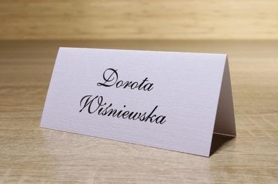 Winietki wizytówki na stół ślubne na wesele EXPRES