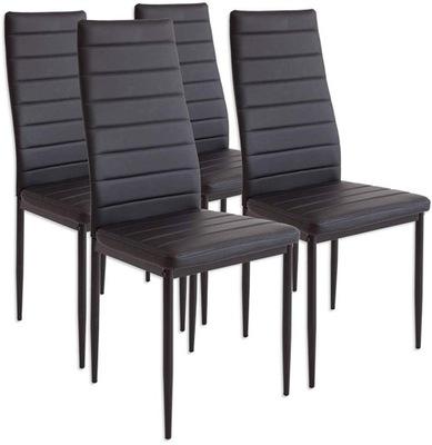 Zestaw Krzeslo krzesla Bergamo - Metalowe 4 sztuki