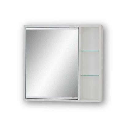 Łazienkowa, biała szafka 50cm, z lustrem