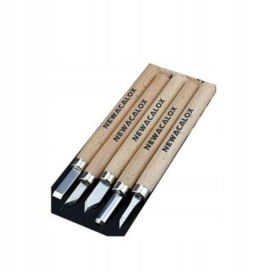 Nóż skalpel do rzeźbienia w drewnie zestaw 5szt