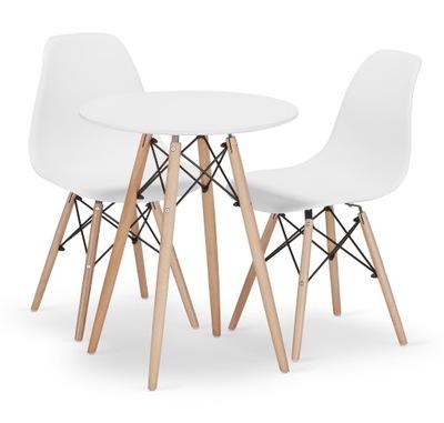 Stół + 2 Krzesła Nowoczesny Skandynawski Styl DSW