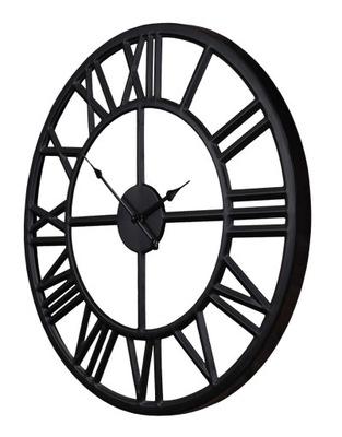 металлический часы Черный чердак промышленный ретро 60см