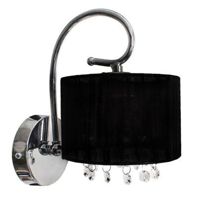 Nástenné svietidlo čierne nástenné svietidlo glamour chrome