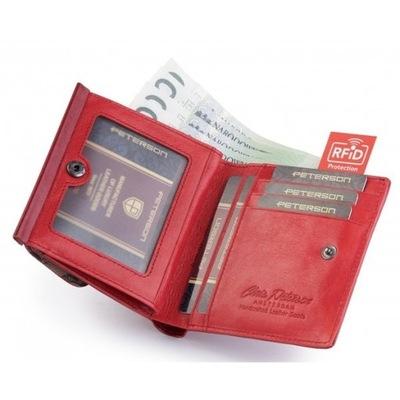 Portfel damski PETERSON PL-209 RFID czerwony