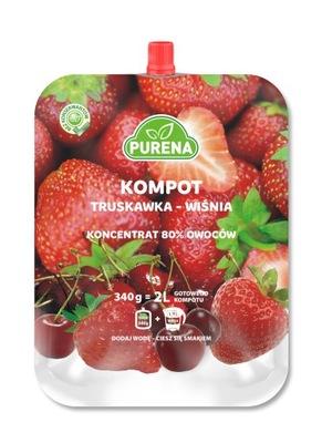 Kompot truskawka-wiśnia (koncentrat)PURENA 2l/340g