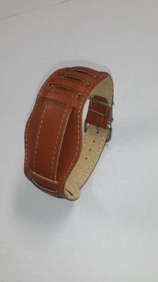 Pasek do zegarka z podkładką skórzany 18mm