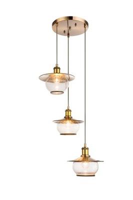 Lampa E27 wisząca stare złoto Edison RETRO ZWIS 1m