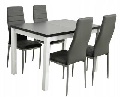 ?????????? стол и 4 стулья Экокожа Серые