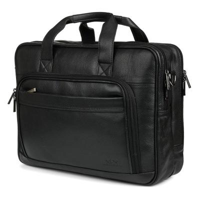 Duża solidna skórzana torba Beltimore na laptopa