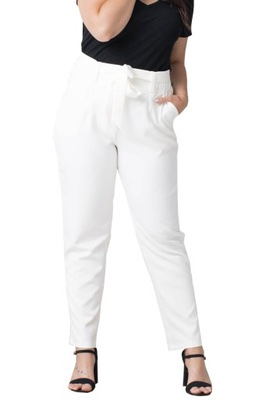 Spodnie eleganckie KOSTA ecru 52