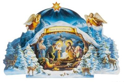 SZOPKA BOŻONARODZENIOWA PAPIEROWA duża z kopertą
