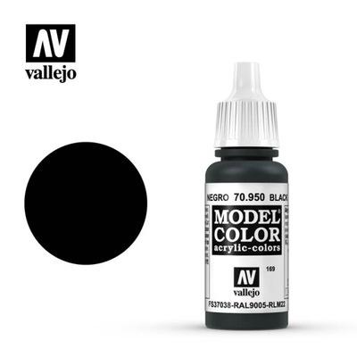VALLEJO FARBA MODEL COLOR 169 BLACK 70950