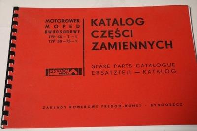 KATALOG CZĘŚCI MOTOCYKLOWYCH ROMET OGAR 50T1