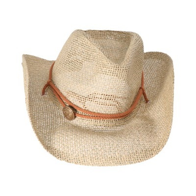 Outdoor Cowboy Strawhat Wide Brim Sun Hat with Win