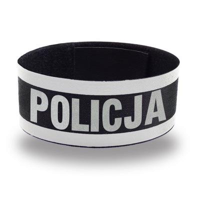 POLICJA OPASKA ODBLASKOWA INFORMACYJNA NA MUNDUR