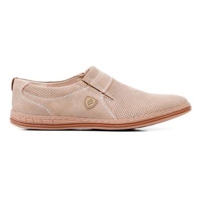 Półbuty beżowe pantofle wizytowe 11 Verena 40