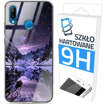 150wzorów ETUI GLASS CASE+SZKŁO do HUAWEI P20 LITE