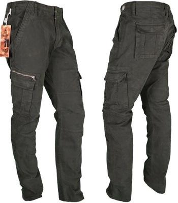 Spodnie BOJÓWKI Stretch ZIELONE LSH #46-87 roz 34