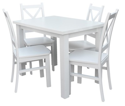 стол 4, стулья Белый ??? кухни столовой Z057