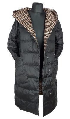 Kurtka puchowa płaszcz przejściowy pikowany L/XL