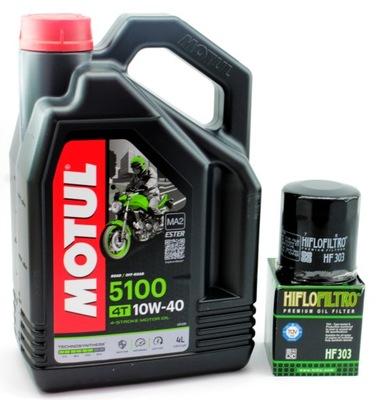 Масло MOTUL 5100 10W40 4t 4l ma2 фильтр HIFLO HF303