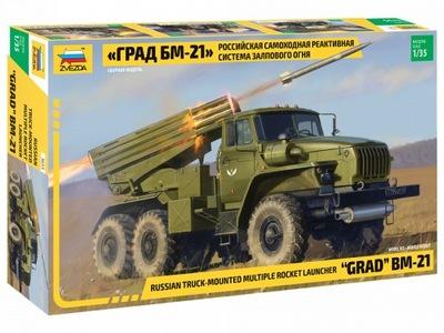 ZVEZDA 3655 BM-21 GRAD radziecka wyrzut. rakietowa