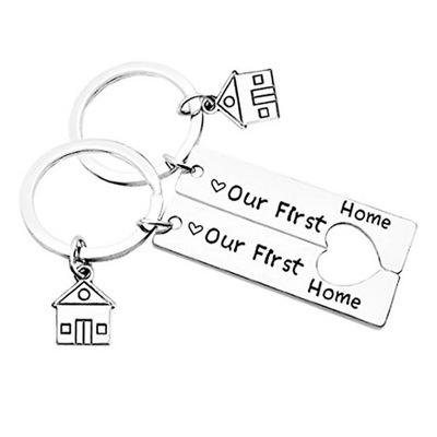 Nowy dom mieszkanie pamiątka brelok do kluczy love
