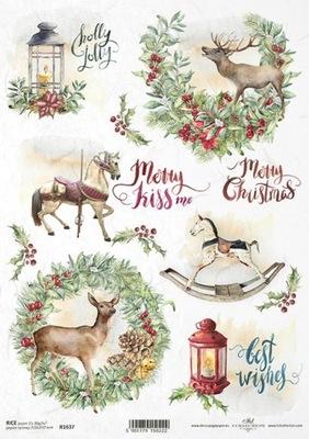 Papier ryżowy do decoupage - A4 Boże Narodzenie