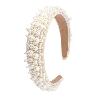 OPASKA do włosów biała Perły koraliki wesele ślub