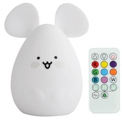 Мышь 13см мягкая лампа LED пульт таймер RGB