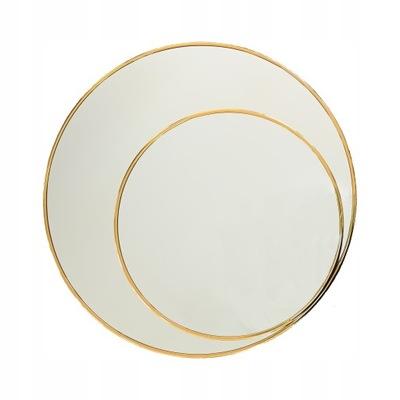 Okrúhle zrkadlo LUNA v zlatom ráme 80 CM