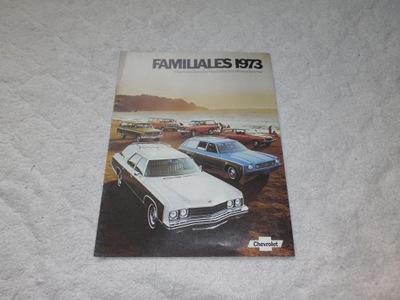ОРИГИНАЛНЫЕ PROSPEKT CHEVROLET FAMILIALES 1973