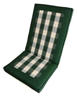 Vankúše na záhradné stoličky skladacie Premium
