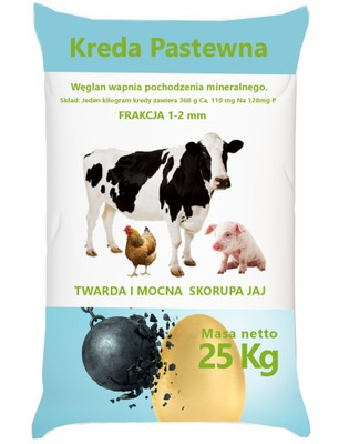 KREDA PASTEWNA WAPNO dla KUR NIOSEK 25kg 1-2 FRA.