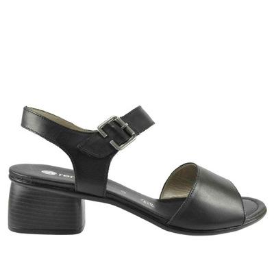 Duże sandały damskie Remonte R2752 01 czarne