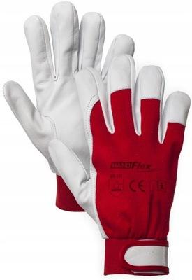 перчатки перчатки рабочие монтажные работы липучка кожа