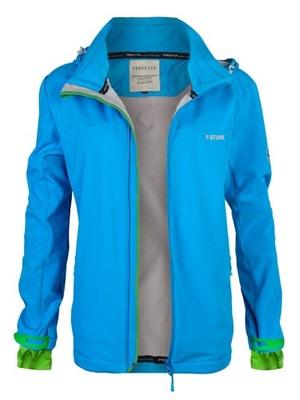 Damska kurtka jesienna softshell blue FST 5634 3XL