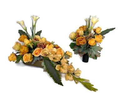 Nowoczesna kompozycja nagrobna/stroik/kwiaty
