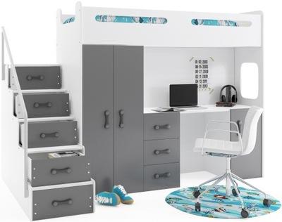 кровать кровать +шкаф Макс 4 200x80 с письменным столом