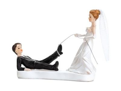 Figurka tort weselny Młoda Para z linką Ślub 1szt
