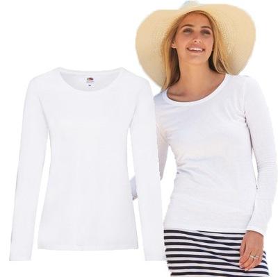 Koszulka Bluzka damska z długim rękawem BIAŁA M