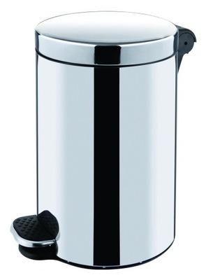 Kontajner odpadového koša odpadkov kruhová oceľ, 5 L