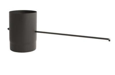Potrubie fi 160 s klapkou pre krbové kotly na uhlie