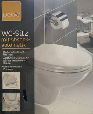 Dekor mäkké zatváracie sedadlo WC, vyrobené z duroplastu