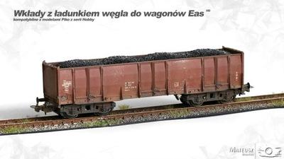 Wkłady z ładunkiem węgla do wagonów Eas   H0